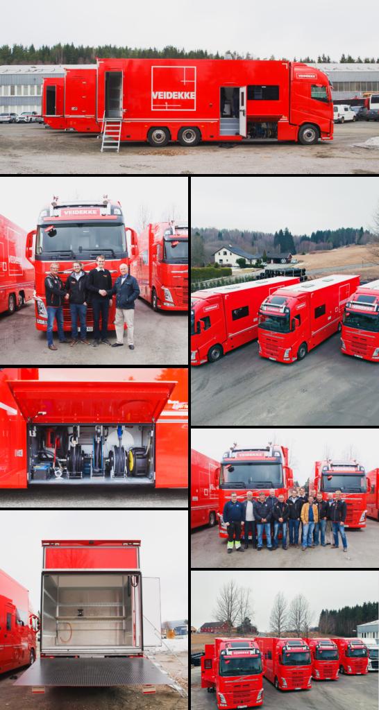 Spesialtilpasset lastebil: Arbeidsbrakke på hjul for Veidekke